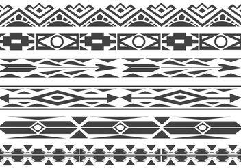 Free Monochrome Native American Pattern Vector Borders - Free vector #144453