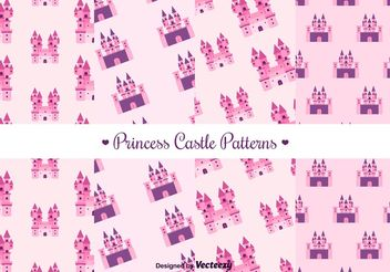 Free Princess Castle Vector Pattern - Free vector #144463