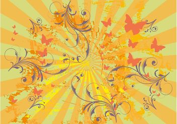 Spring Grunge Vector - Free vector #144643