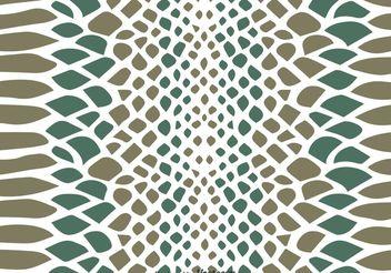 Snake Skin Vector Pattern - Free vector #144693