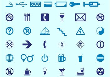 Signs And Icons - vector gratuit #144733