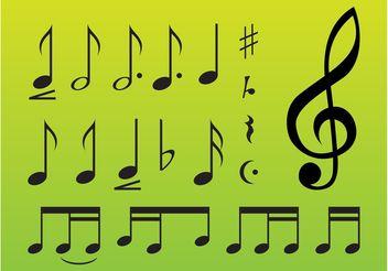 Music Symbols - бесплатный vector #144753