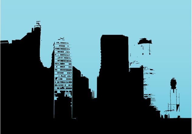 Buildings Outlines - Free vector #144823