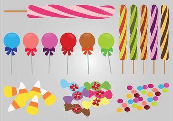 Candy Vectors - vector gratuit #144853