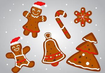 Gingerbread Christmas Dessert Vectors - бесплатный vector #144863