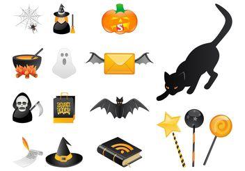 Halloween Set - Free vector #145013