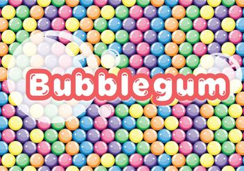 Colorful Bubblegum Vector Background - vector gratuit #145073