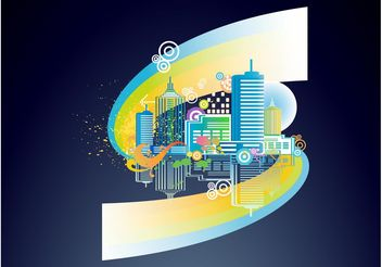 Colorful City - Free vector #145173