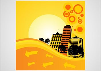 Summer City - vector gratuit #145213