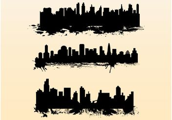 Splatter Cityscapes - Free vector #145273