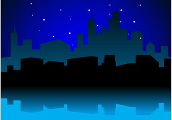 Urban Night Vector - Free vector #145283