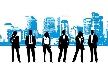 Businesspeople Layout - Free vector #145323