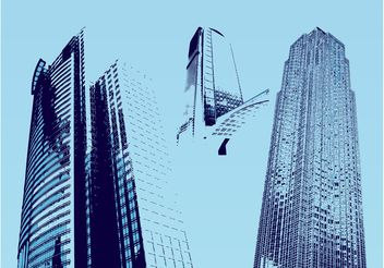 Urban Skyscrapers - vector gratuit #145343