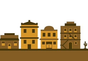 Old west town - vector gratuit #145413