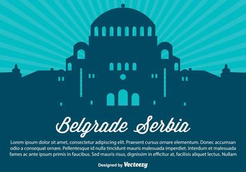 Belgarde Serbia Silhouette Illustration - Free vector #145463