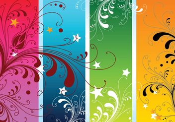 Colorful Nature Vectors - Free vector #145673