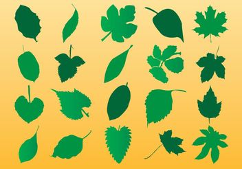 Vector Leaf Silhouette Art - Free vector #145713