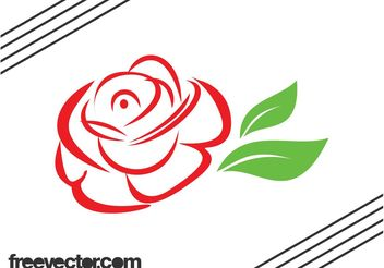 Stylized Rose Graphics - бесплатный vector #145813