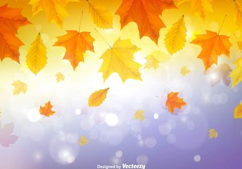 Autumn leaves background - vector gratuit #145853