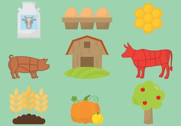Organic Farm Icon Vectors - Free vector #145863