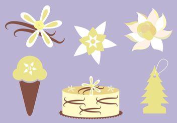 Vanilla Flower Vectors - Free vector #145923