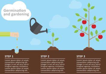 Gardening Infographic Vector - vector gratuit #145933