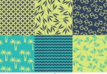 Spring and Summer Beach Pattern Vectors - Free vector #145983