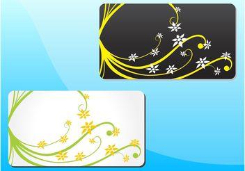 Spring Floral Cards - Kostenloses vector #146143
