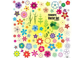 Colorful Summer Flowers - vector gratuit #146203