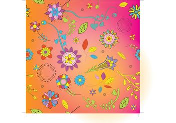 Flowers Background Vector - Free vector #146233