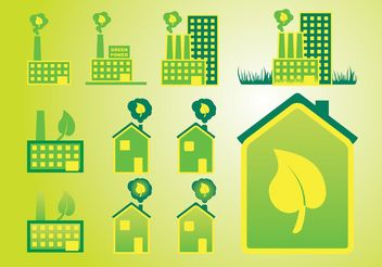 Green Home - vector gratuit #146273