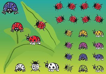 Ladybugs - Kostenloses vector #146303