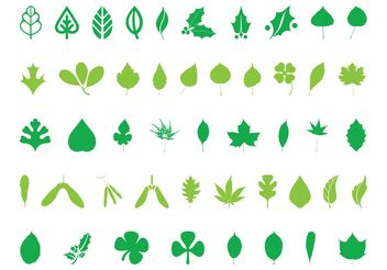 Leaves Silhouettes - vector #146403 gratis