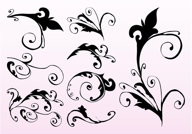 Swirling Plant Stems - Free vector #146423