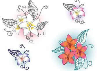 Free Vector Polynesian Flowers - Free vector #146523