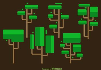 Squared Minimal Tree Vectors - Free vector #146583