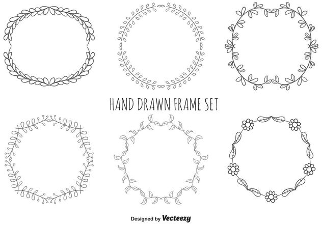 Hand Drawn Frame Set - vector gratuit(e) #146653