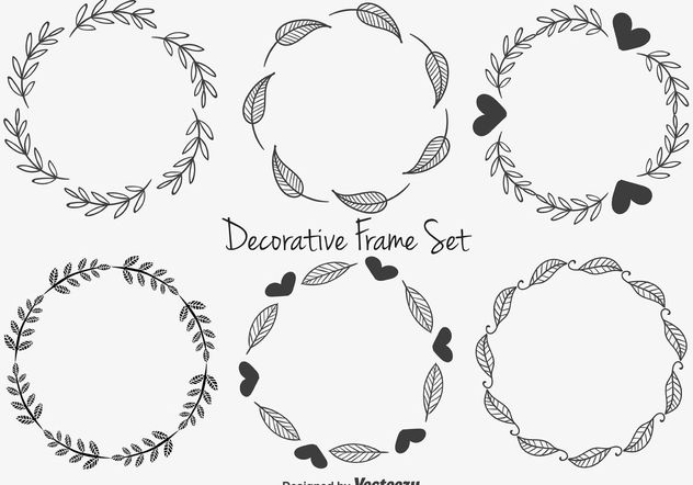 Cute Decorative Frames - Free vector #146693