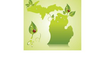 Green Michigan - Free vector #146703