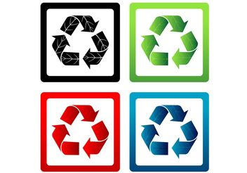 Set of Vector Recycle Symbols - vector gratuit #146723