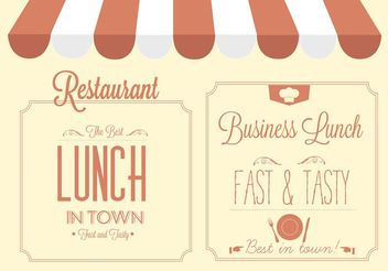 Free Vector Restaurant Sign Design - Free vector #146833