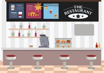 Restaurant Interior - Free vector #146923