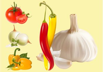 Vector Vegetables - vector gratuit #146943