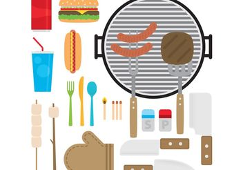 Camp Food Vectors - бесплатный vector #146983