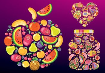 Fruit Vectors - vector gratuit #147023