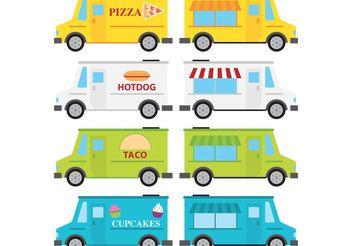 Food Truck Vectors - Free vector #147113