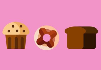Sweet Food Vectors - Free vector #147163