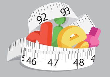 Diet Concept Vector - бесплатный vector #147203