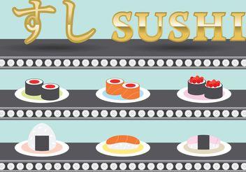 Sushi Platter Vectors - Free vector #147263