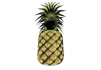 Pineapple Vector - Free vector #147393